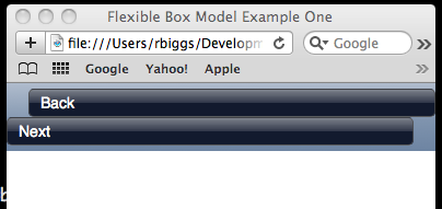 Initial setup for a header tag that will use the flexible box model
