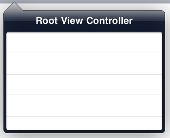 Typical iPad dropdown menu