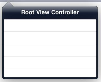 Typical iPad dropdown menu