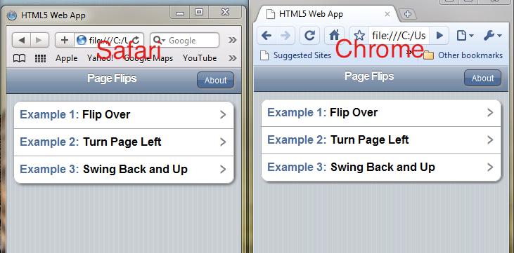 Safari and Chrome