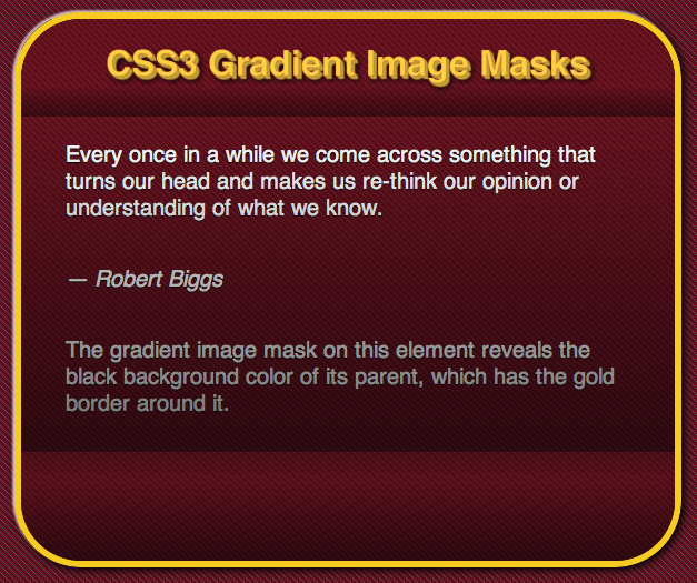 CSS3 gradient image mask