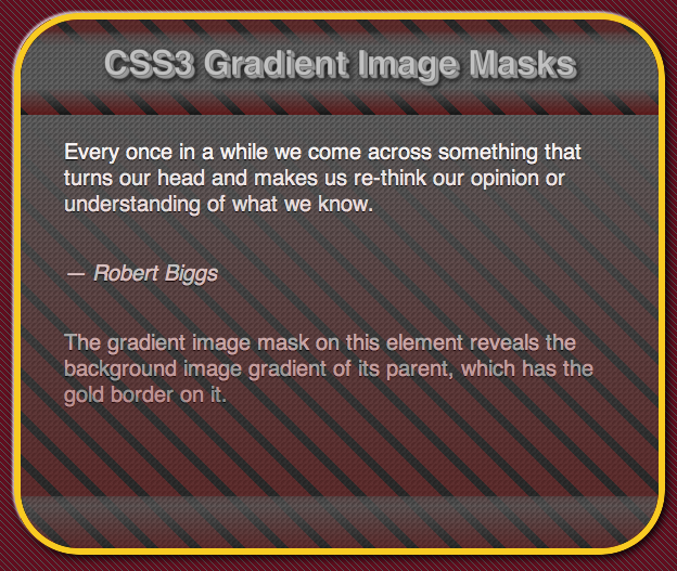 CSS3 gradient image mask