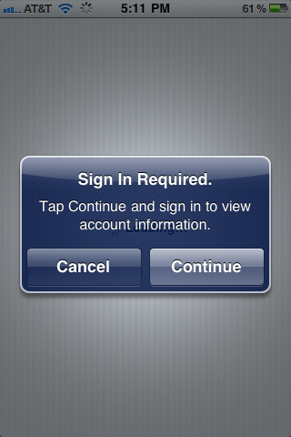 Native iPhone modal popup