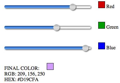 RGB Slider